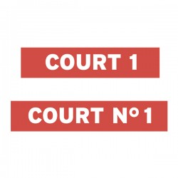 Adhesive tape for COURT NUMBER
